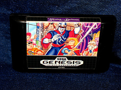 Sega Genesis Game: Shining in the Darkness with Case