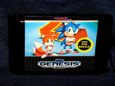 Sega Genesis Game: Sonic the Hedgehog 2 (Not for Resale) with Case and Manual