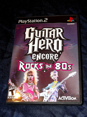 Playstation 2 Game: Guitar Hero Encore: Rocks the 80s