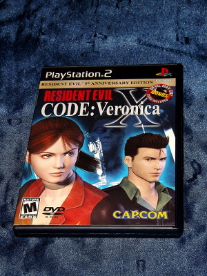Playstation 2 Game: Resident Evil: Code: Veronica X 5th Anniversary Edition