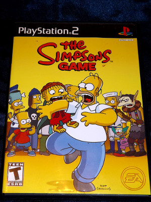 Playstation 2 Game: The Simpsons
